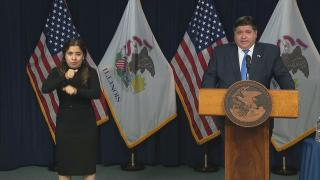 Gov. J.B. Pritzker discusses new state guidelines for recreational sports on Wednesday, July 29, 2020. (WTTW News)