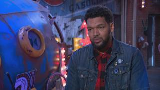 "Chicago artist Hebru Brantley speaks with ""Chicago Tonight."" (WTTW News)"