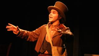 """Frankie Leo Bennett as Tobias Ragg in """"Sweeney Todd"""" at Theo Ubique Cabaret Theatre. (Credit: Cody Jolly Photography)"""