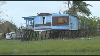 Damage caused by the Category 4 storm Hurricane Iota. (WTTW News via CNN)