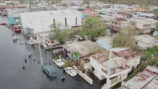 The aftermath of Hurricane Maria, which hit Puerto Rico in September 2017. (WTTW News via CNN)