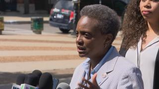 """""""There's a lot of fear out there, and what's most distressing to me is the fear in the hearts and in the eyes of children,"""" Chicago Mayor Lori Lightfoot said Thursday, July 11, 2019. (WTTW News)"""