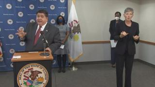 "Gov. J.B. Pritzker on Thursday, July 31, 2020: ""We're at a danger point, everybody. Pay attention."""