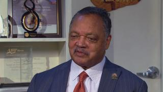 The Rev. Jesse Jackson speaks with WTTW News.