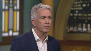 "Former U.S. Rep. Joe Walsh appears on ""Chicago Tonight"" on Feb. 10, 2020. (WTTW News)"