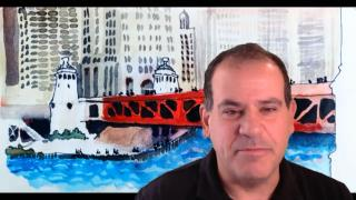 "Joel Berman speaks with ""Chicago Tonight"" via Zoom. (WTTW News)"