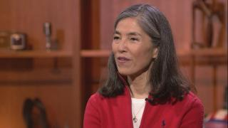 """Chicago Department of Public Health Commissioner Julie Morita appears on """"Chicago Tonight"""" on April 11, 2019."""