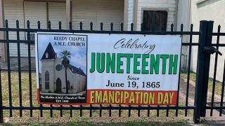 Reedy Chapel AME Church in Galveston, Texas.