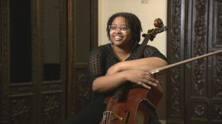 Kailie Holliday, began playing the cello at age 7, She says that as a child, it was the size of the instrument that drew her in. (WTTW News)