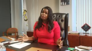 Cook County State's Attorney Kim Foxx speaks with WTTW News on Wednesday, March 27, 2019.