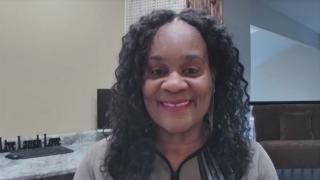 "State Sen. Kimberly Lightford appears on ""Black Voices"" on Sunday, Nov. 1, 2020. (WTTW News)"
