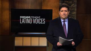 """Michael Puente of WBEZ, guest hosts """"Chicago Tonight: Latino Voices."""" (WTTW News)"""