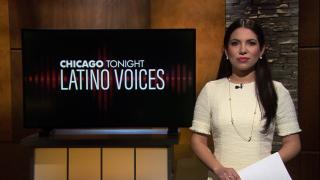 "Araceli Gomez-Aldana of WBEZ guest hosts the 28th episode of ""Latino Voices."" (WTTW News)"