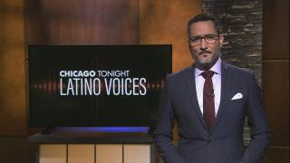 "Univisión's Alex Hernández guest hosts the 36th episode of ""Latino Voices."" (WTTW News)"