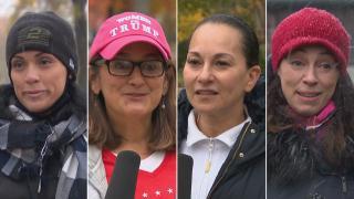 "From left: Stefanie Mingari,Jasmine Hauser, Sandra Figueroa Bast and Dana Cruz speak with ""Latino Voices."" (WTTW News)"