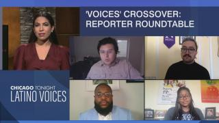 Araceli Gómez-Aldana guest hosts a Black Voices/Latino Voices crossover with Chicago journalists on the mayor's budget proposal. (WTTW News)
