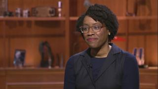 """U.S. Rep. Lauren Underwood appears on """"Chicago Tonight"""" on March 19, 2020."""