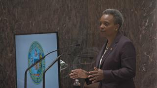 Chicago Mayor Lori Lightfoot delivers her first budget address to City Council on Wednesday, Oct. 23, 2019. (WTTW News)