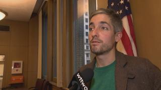 """""""We can disagree on the budget, but to say we didn't put forth alternatives is not truthful,"""" said Ald. Daniel La Spata, 1st Ward. (WTTW News)"""