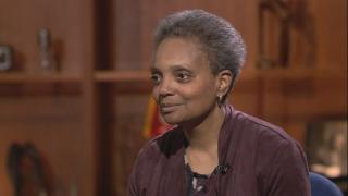 """Mayoral candidates Lori Lightfoot appears on """"Chicago Tonight"""" on Feb. 27, 2019."""