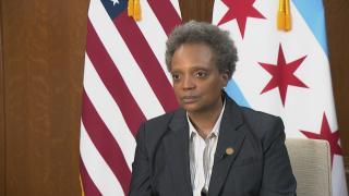 Mayor Lori Lightfoot speaks with WTTW News on May 19, 2020.