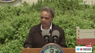 Mayor Lori Lightfoot speaks at a livestreamed press briefing on Thursday, June 4, 2020. (Chicago Mayor's Office / Facebook)