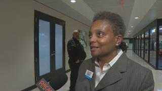 """""""Toni Preckwinkle is doing what a party boss does,"""" mayoral candidate Lori Lightfoot said Monday, Dec. 17, 2018."""