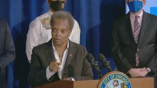 Mayor Lori Lightfoot went to Cook County court to stop the Fraternal Order of Police and its president, John Catanzara, from blocking the city's vaccine mandate. (WTTW News)