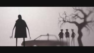 "A still image from Manual Cinema's trailer for ""Candyman."" (WTTW News via Manual Cinema)"