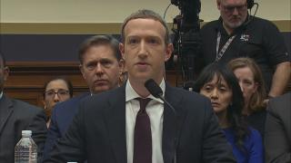 Facebook CEO Mark Zuckerberg testifies before the House Committee on Financial Services on Wednesday, Oct. 23, 2019. (WTTW News)
