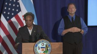 Mayor Lori Lightfoot speaks to the media on Tuesday, Oct. 6, 2020. (WTTW News)