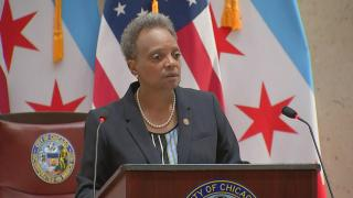 Mayor Lori Lightfoot delivers her budget address on Wednesday, Oct. 21, 2020. (WTTW News)