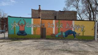 A mural by Myron Laban on Chicago's West Side. (WTTW News)