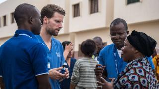 Nate Claus, second from left (© Mercy Ships)