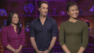 "From left: ""Miss Saigon"" stars Christine Bunuan, Anthony Festa and Emily Bautista appear on ""Chicago Tonight."""