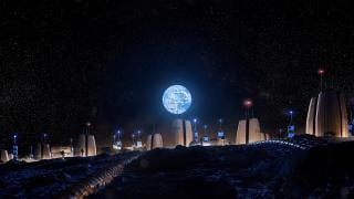 A vision of what a permanent human presence on the moon could look like. (Credit: SOM / Slashcube GmbH)
