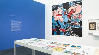Installation view, Chicago Comics: 1960s to Now is on exhibition June 19 – Oct. 3, 2021. (Credit Nathan Keay /  MCA Chicago)