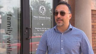 Nestor Flores of the Pilsen Wellness Center. (WTTW News)
