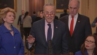"""""""When the president stays out of the negotiations, we almost always succeed,"""" Sen. Chuck Schumer said Tuesday, Jan. 29, 2019."""