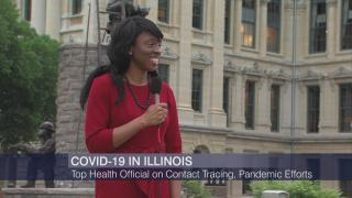 "Dr. Ngozi Ezike appears on ""Chicago Tonight"" on Thursday, May 21, 2020. (WTTW News)"