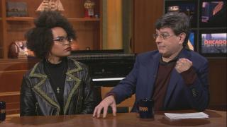 "Angelica Jade Bastién and Alejandro Riera appear on ""Chicago Tonight"" on Feb. 6, 2020. (WTTW News)"