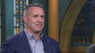 "Northwestern University football coach Pat Fitzgerald appears on ""Chicago Tonight."""