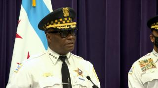 Chicago police Superintendent David Brown talks about the city's summer safety plan during a news conference June 1, 2021. (WTTW News)