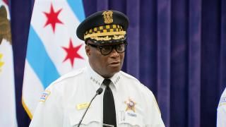 Chicago police Superintendent David Brown addresses the city's violent holiday weekend on July 6, 2021. (WTTW News)