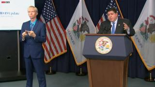 Gov. J.B. Pritzker announced a mask mandate for all pre-K through 12th grade students and staff at public and private schools, along with day cares, as the delta variant of COVID-19 continues to surge across the state and the country, Aug. 4, 2021. (WTTW News)