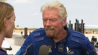 On Sunday, July 11, 2021, Richard Branson became the first person to fly into space on a self-funded ship. (WTTW News via CNN)