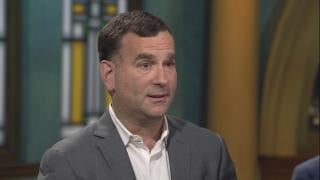 """Chicago White Sox general manager Rick Hahn appears on """"Chicago Tonight"""" on Monday, Jan. 27, 2020. (WTTW News)"""
