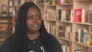 Danielle Mullen, owner of Semicolon Bookstore. (WTTW News)