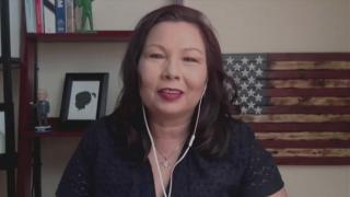"Illinois U.S. Sen. Tammy Duckworth appears on ""Chicago Tonight"" via Zoom on Wednesday, July 15, 2020. (WTTW News)"