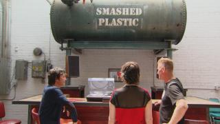 Smashed Plastic in Chicago. (WTTW News)